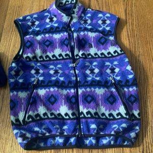 Vintage north face purple Aztec vest